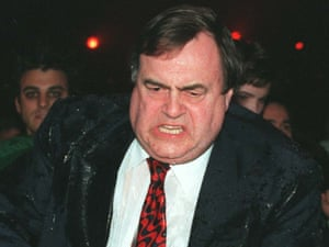 John Prescott at the 1998 Brit Awards
