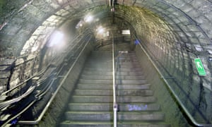 The disused North End underground station on the Northern Line.