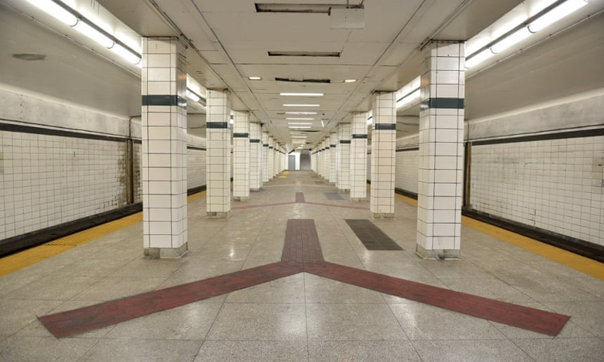Lower Bay, a ghost station, on Toronto's subway system.