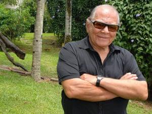 Dr. Ivo Pitanguy poses at Ilha dos Porcos, Pigs Island, south of Rio de Janeiro, Brazil
