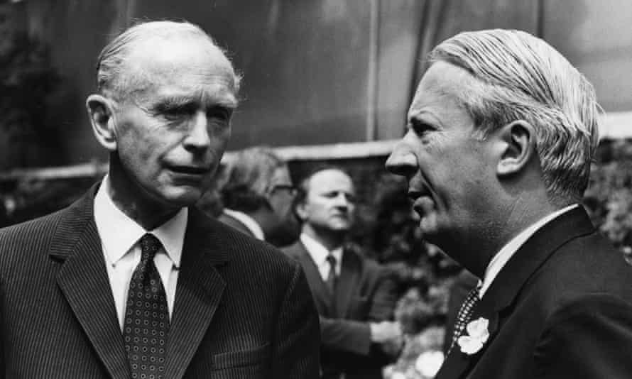British foreign secretary Alec Douglas-Home with prime minister Edward Heath in 1970