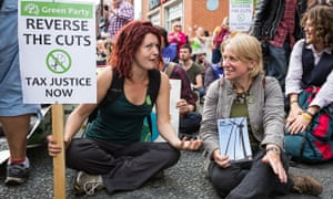 Green party leader Natalie Bennett takes part in the global day of climate change protests