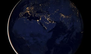 Earth lights at night
