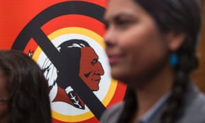 An organization called 'Change the Mascot' holds a news conference urging the Washington Redskins NFL football team to change their name.