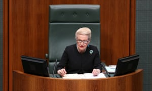 The Speaker of the House Bronwyn Bishop during question time in the House of Representatives this afternoon, Thursday 25th September 2014