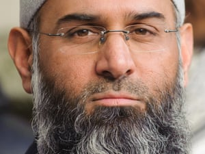 Muslim preacher Anjem Choudary who is one of nine men arrested as part of an investigation into Islamist terrorism.