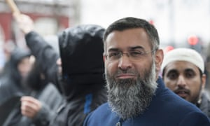 Muslim preacher Anjem Choudary who is believed to be one of the nine men arrested