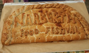 Giant pasty advertising the Narberth food festival