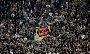 The banner at Partizan Belgrade