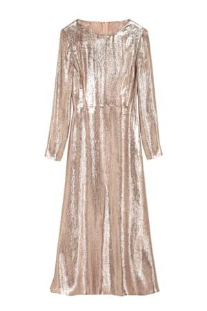 gold dress midi length