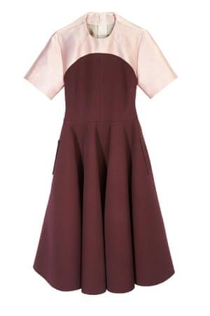 dual colour dress pink burgundy