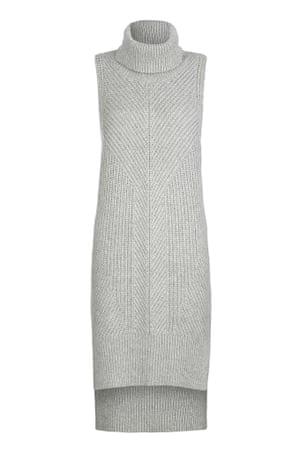 sleeveless dress knitted grey