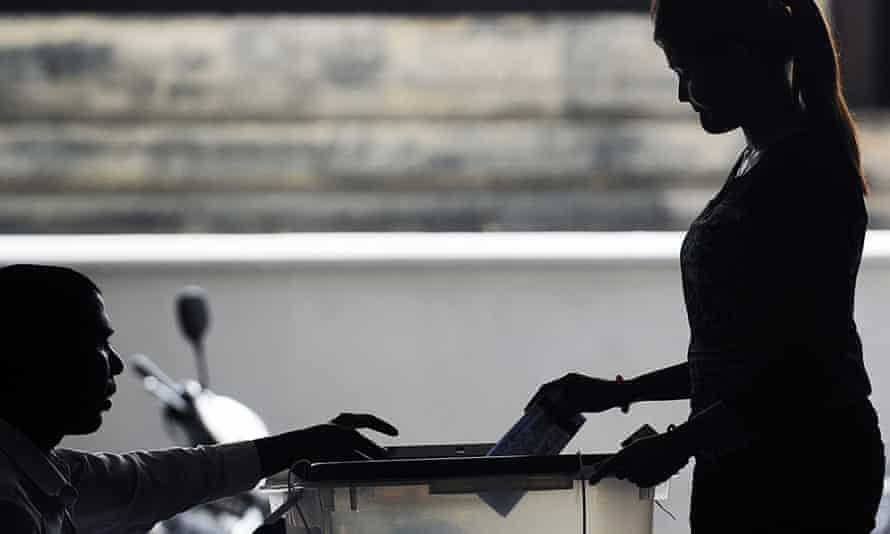 Maldives presidential election vote