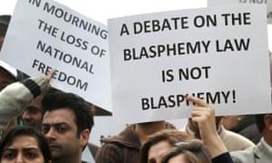 Pakistan blasphemy protesters