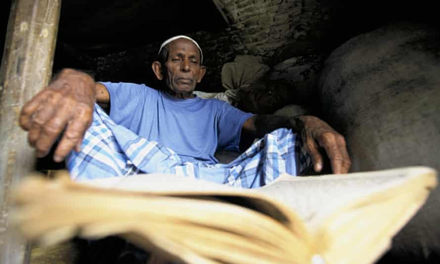 Maldives man reading