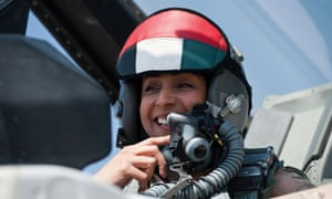 "Major Mariam al-Mansouri, the first female pilot to join the Emirates Air Forces,  ""led the squadron"" of UAE fighter jets that participated in raids targeting Islamic State jihadists in Syria."