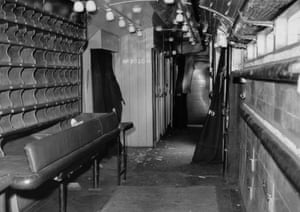 The interior of the Royal Mail travelling post office carriage from which over 2,5 million was stolen