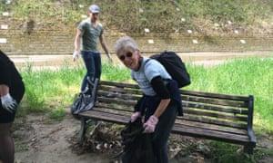 Volunteer cleanup sponsored by Tevereterno and Retake