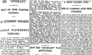 Ulster covenant text released, Manchester Guardian 20 September 1912