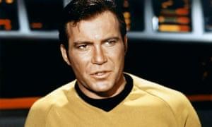 William Shatner as Kirk in Star Trek in 1966