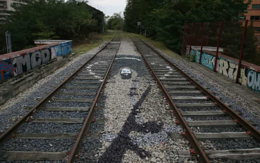 Graffiti art on the disused tracks of the Petite Ceinture.