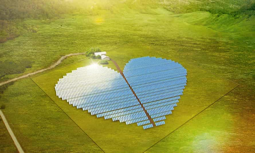 Heart-shaped solar farm on the Pacific island of New Caledonia.