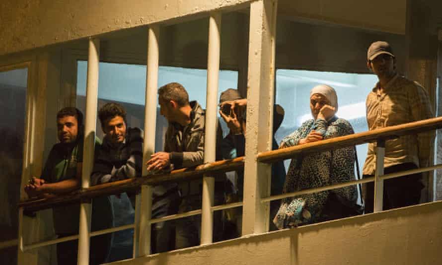 Rescued Syrians  in Limassol.
