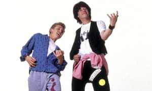 Bill and Ted at the start of their Excellent Adventure in 1989.