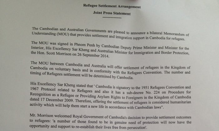 Australia Signs Controversial Refugee Transfer Deal With Cambodia