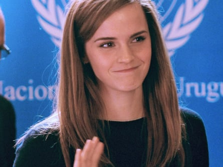 British Actor and UN Women Goodwill Ambassador Emma Watson arrives to the presentation of the UN Womens HeForShe campaign to Non Governmental Organizations at the Uruguay's Parliament in Montevideo on September 17, 2014.