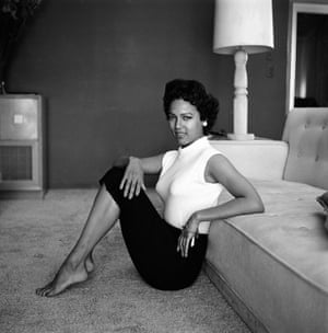 Actor Dorothy Dandridge photographed at home in 1954