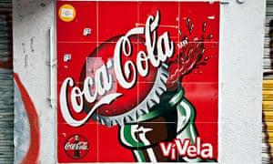 A Coca-Cola sign