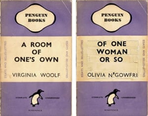 Detail from the covers of A Room of One's Own and Of One Woman Or So