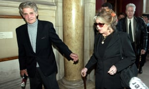 In 1992 Bernard d'Ormale became Bardot's fourth and current husband. He was a former adviser to Front National leader Jean-Marie Le Pen and his far right wing politics chimed with her own. Here they leave a Paris court in 2004 after she was sued by the anti-racist MRAP for the racist, anti-Muslim, and anti-gay comments made in her 2003 book 'A Cry in Silence'.