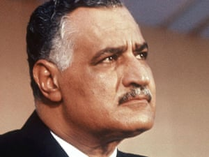 Egyptian president Gamal Abdel Nasser, who died of a heart attack in 1970 aged only 52