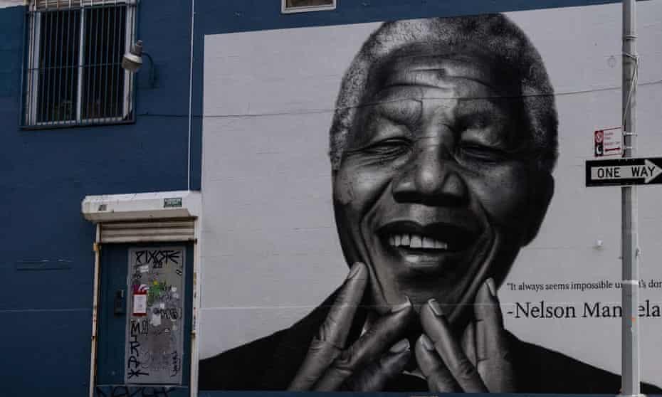 Nelson Mandela mural in Brooklyn
