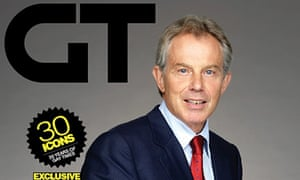 Tony Blair on the cover of Gay Times