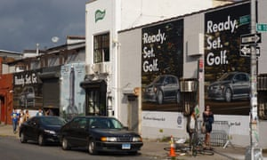 Volkswagen Golf ad in Brooklyn