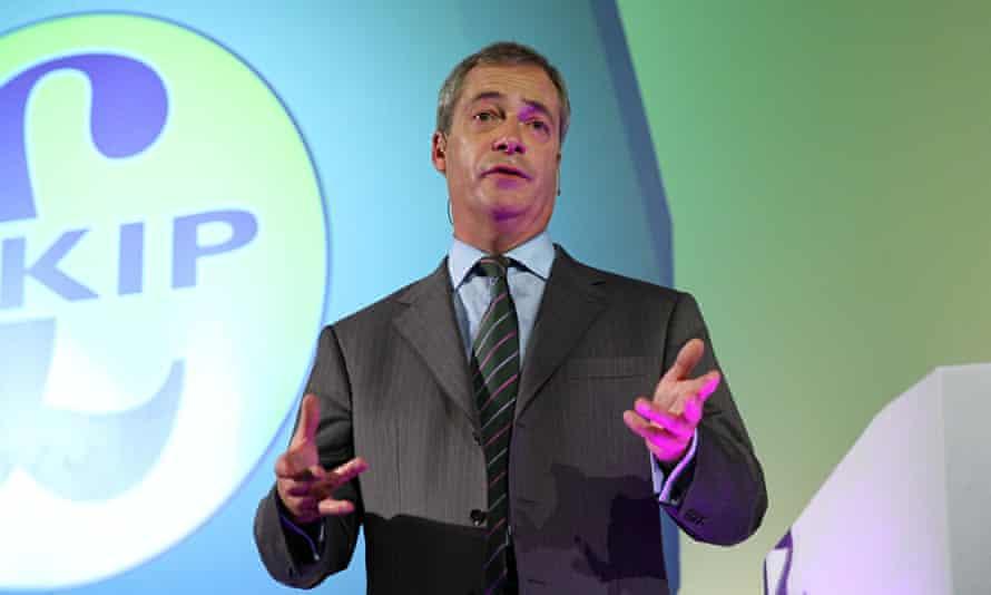 Nigel Farage, the Ukip leader