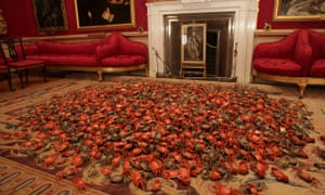 Ai Weiwei's He Xie – the sea of porcelain crabs refers to censorship, playing on the similar-soundin