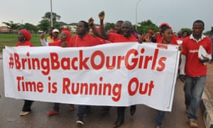 A demonstration in Abuja, Nigeria, this month called for the government to do more to rescue the girls kidnapped by Boko Haram in April.