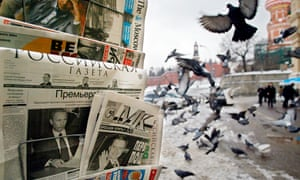 Moscow newsstand