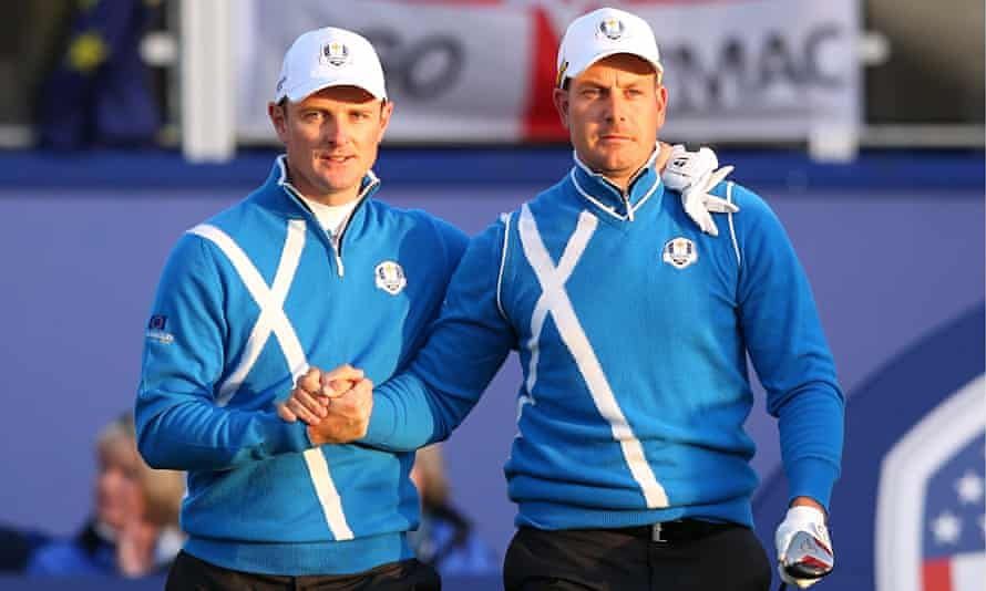 Justin Rose and Henrik Stenson