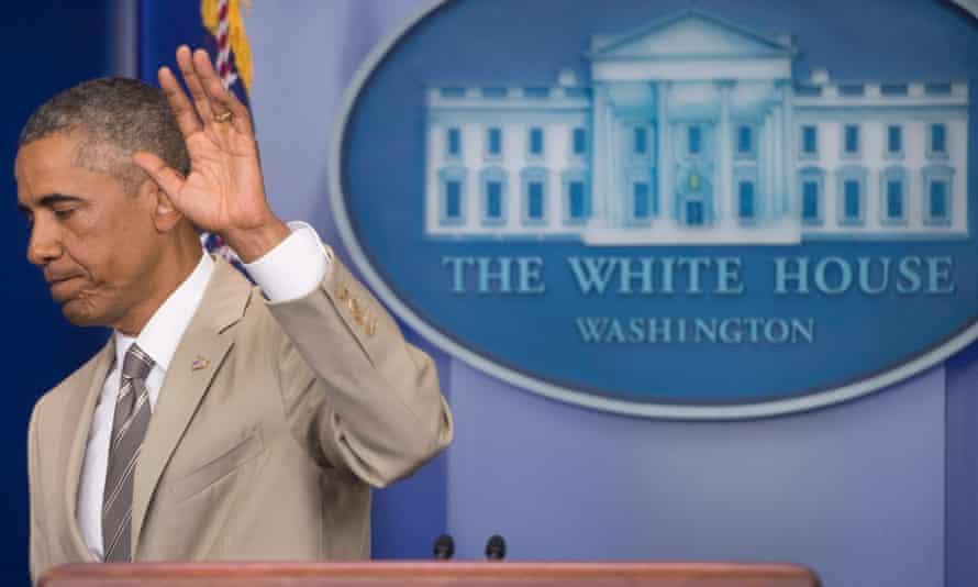obama wave white house
