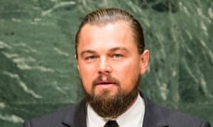 Leonardo DiCaprio at the UN climate summit in New York, 23 September 2014.