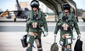 RAF Tornado aircrew prepare to depart from RAF Akrotiri in Cyprus .