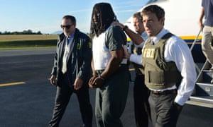 FBI agents escort Jesse Leroy Matthewa Jr. hannah graham