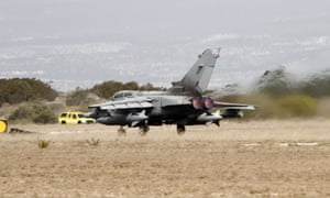 An RAF Tornado GR4 fighter jet takes off on September from Akrotiri British RAF airbase in Cyprus.