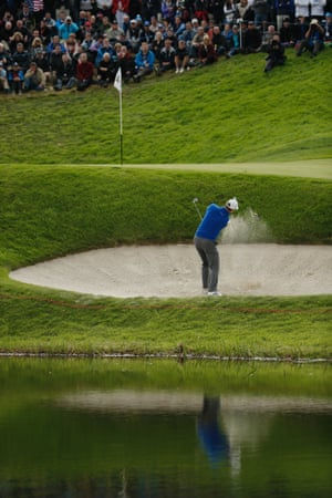 Rose chips out of a bunker