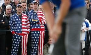 American fans watch on